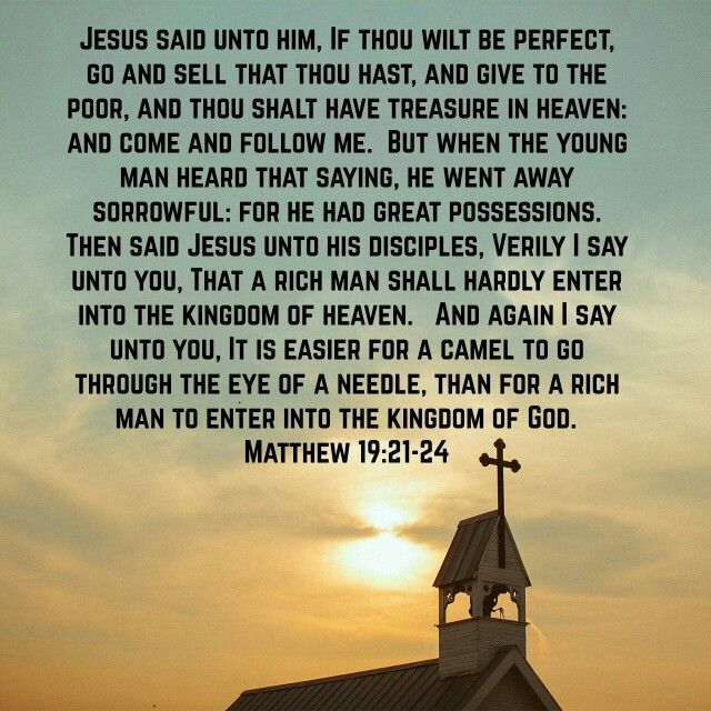 Matthew 19:21-24